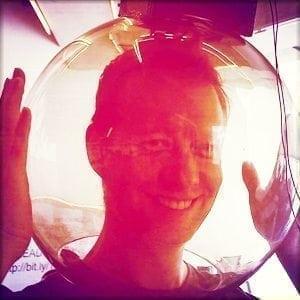 Eric Boyd in a bowl.